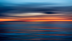 Panning for Gold (Aaron Springer) Tags: michigan northernmichigan lakemichigan thegreatlakes twilight water clouds icm intentionalcameramovement outdoor nature waterscape