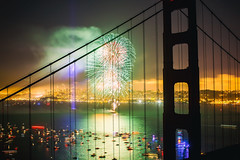 Dark Bridge (Thomas Hawk) Tags: 75thbirthdaygoldengatebridge america batteryspencer california goldengatebridge marin marinheadlands sanfrancisco usa unitedstates unitedstatesofamerica bridge fireworks millvalley us fav10 fav25 fav50 fav100