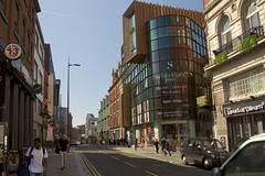 Hanover Street (TERRY KEARNEY) Tags: hanoverstreetliverpool hanoverstreet cityscape liverpoolcitycentre buildings buildingsarchitecture buildingstructure road street people car vehicle architecture shops pubs skyline sky canoneos1dmarkiv daylight day explore europe england kearney liverpool merseyside oneterry outdoor terrykearney urban 2018 metropolitan construction building intersection city sidewalk