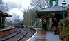 'Rainy Kingscote' (andrew_@oxford) Tags: kingscote station bluebell railway steam locomotive passengers timeline events