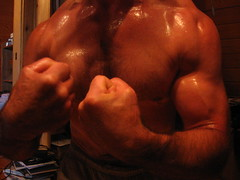 BIG BULGING BICEPS (FLEX ROGERS) Tags: muscle muscles muscular bicep biceps bizeps bodybuilder bodybuilding flex flexing chest pecs pumped ripped shredded abs guns lats delts traps workoutthich