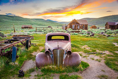 Bodie Ghost Town Vintage Rusting Ghost Car Epic Fine Art Breaking Storm Clouds Sunset! High Sierras California Gold Rush Ghost Town! Bodie State Park!  Nikon D810 & Sharp Nikon AF-S NIKKOR 14-24mm f/2.8G ED Lens 2163! HDR Goldrush! (45SURF Hero's Odyssey Mythology Landscapes & Godde) Tags: bodie ghost town vintage rusting car epic fine art breaking storm clouds sunset high sierras california gold rush state park sony a7 r carl zeiss variotessar t fe 1635mm f4 za oss lens sel1635z hdr goldrush