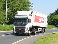 A F Blakemore DX17 KSK at Gledrid services (Joshhowells27) Tags: lorry volvo fm afblakemore spar refrigerated supermarket colonel