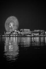 Yokohama Harbour (Black Hat Originals) Tags: night cc building winter honeymoon street water city lights urban yokohama adobe ferriswheel lightroom d5300 nikon architecture boat harbour landscape japan reflection