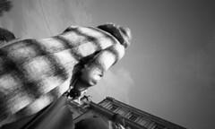 Coat (4foot2) Tags: brighton streetphoto streetshot street streetphotography candid candidportrate reportage reportagephotography peoplewatching people peopleofbrighton interestingpeople analogue film filmphotography 35mmfilm pointandshoot olympustripaf50 mono monochrome bw blackandwhite rolleiretro rolleiretro400s 400s hc110 kodak kodakhc110 2018 28mm wideangle fourfoottwo 4foot2 4foot2flickr 4foot2photostream