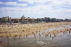 Kurhaus on the beach. (MiriamZ73) Tags: pier view panoramic beach crowds vacation sun sand scheveningen kurhaus
