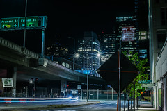 folsom street overpass (pbo31) Tags: bayarea california nikon d810 color black night dark spring may 2018 boury pbo31 sanfrancisco city urban rinconhill folsomstreet lightstream roadway traffic 80 offramp overpass baybridge bridge