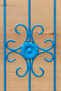 Central cooling (A Different Perspective) Tags: bali batubelig seminyak blue flower gate ornament pattern tin wall