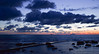 Verso l'infinito (giuly891) Tags: terrazzamascagni livorno leghorn tuscany toscana italia italy mare sea infinito blue nuvole clouds orizzonte horizon cielo sky passeggiata acqua water nature natura nikon nikond5300 colors tramonto sunset