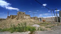 on the border (freakingrabbit) Tags: building exterior architecture stone wall adobe iran east azerbaijan border old village persia