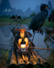 The Cormorant Fishermen of Guilin (Guangxi, China 2016) (Alex Stoen) Tags: alexstoenphotography china geotagged leicamptyp240 summiluxm35mm travel vacation yangshuo