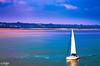 A Boat (PixelRange) Tags: nikond7000 nikkor18300mm sanjaysaxena pixelrange pier ocen sea bluesea clouds pillars water oceanview isleofwight needlespark theneedles beach alumbay boat