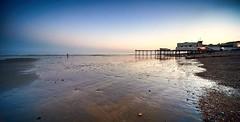 Evening at the beach (Greg Webb) Tags: beach evening eveninglight sea coast coastal pier sussex