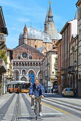 padova street (poludziber1) Tags: padova italia italy bicycle people street city church urban travel blue