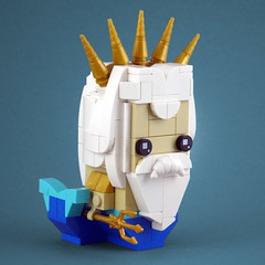BrickHeadz: King Triton (Swan Dutchman) Tags: lego brickheadz disney thelittlemermaid kleinezeemeermin king triton