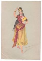 """""""Indisk"""" kostume (Rigsarkivet - Danish National Archives) Tags: costumes drawing theatre aquarel teater kostumer kostumetegninger"""