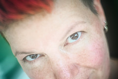 And it also caught me (Melissa Maples) Tags: antalya turkey türkiye asia 安塔利亚 土耳其 亚洲 nikon d3300 ニコン 尼康 гелиос81н helios81n 50mm f2 50mmf2 prime manualfocus nometering nonmetering manualmetering preai nonai me melissa maples selfportrait woman brunette shorthair pinkhair