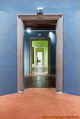 The doors (Carlo Pagan_Photo) Tags: italia italy ferrara porte doors sequenza sequence azzuuro verde azure green indoor interno