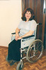 SAK on wheels (jackcast2015) Tags: handicapped disabledwoman crippledwoman crutches amputee sakamputee sakamputation sak wheelchair