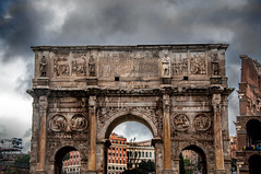 Arch of Constantine (Tony Shertila) Tags: acilia campitelli ita lazio geo:lat=4188943537 geo:lon=1249046803 geotagged italy europe rome arch architecture city sky clouds