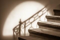Escalier. (Valentin le luron) Tags: 20180421 nikon 800 e sépia escalier marche ombre château saintmaire lausanne yves paudex