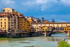 Ponte Vecchio (Tony Shertila) Tags: po architecture azura azuracruise building city europe fiorence florence italy structure vacation pontevecchio river bridge structior
