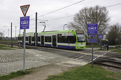 Tramway - Look Both Ways (McTumshie) Tags: 20180401 2546 croydon croydontram croydontramink london londontrams southnorwoodcountrypark tfl tramlink transportforlondon crossing cyclist publictransport road signs tram tramway transport england unitedkingdom cycle cycling bicycle bike