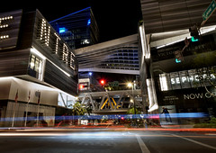 Brickell City Centre at night. (Jill Bazeley) Tags: brickell city centre center miami florida urban night cityscape long exposure light trail architecture building 8th street calle ocho sony a6300 1018mm