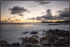 Poipu, Kauai. (drpeterrath) Tags: canon eos5dsr 5dsr sunset poipu koloa kauai hawaii seascape sun sky clouds ocean water pacific rocks longexposure color outdooor weather nature naturallight