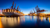 Waltershofer Hafen Blue Hour (imagejon) Tags: ship hamburg harbour
