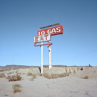 no gas. mojave desert, ca. 2016.