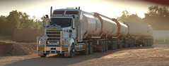 Iron Horse (D70) Tags: nikon d70 28300mm f3563 ƒ53 872mm 1400 200 kenworth road train iron horse bp tanker pulling three trailers fuel