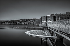 Tittesworth Reservoir Overflow (Alan E Taylor) Tags: architecture atmospheric bw blackwhite blackandwhite countryside dark dramatic england europe fineart industrial industry le lake landscape leebigstopper leek lightroom longexposure luminar mono monochrome noiretblanc peakdistrict reservoir roaches rural skylum staffordshire tittesworthreservoir tourism tourist travel uk unitedkingdom water britain british picturesque scenic