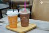 ice tea and ice coffee on wooden background (absolute_nt) Tags: art background beverage black breakfast brown cafe caffeine closeup coffee cup drink espresso food fresh hot latte liquid love milk morning natural nature nobody restaurant shop sweet table tea top two view white wood wooden