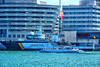En catamarán (Fnikos) Tags: port puerto porto harbour harbor sea water waterfront boat sailboat ship building tower architecture catamaran catamarán people outdoor
