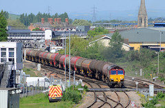 66076. (curly42) Tags: 66076 class66 6b13 railway transport dbs murco freight hortonroadcrossing levelcrossing