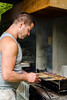 (Armand K) Tags: 2018 attila grosotto irola irola20180512 may2018 valtellina baita barbecue bbq cooking food frying grigliata meal meat public salsiccia smoke spiedini spring