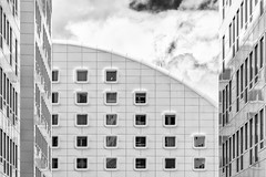 Squares or Rectangles (Leipzig_trifft_Wien) Tags: marseille provencealpescôtedazur frankreich fr facade windows architecture modern contemporary black white grey urban city building contrast curve line geometry