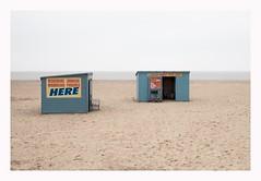 Here (John Pettigrew) Tags: horizon lines tamron d750 nikon seashore space empty new blue beach imanoot angles charm mundane documenting grey deserted banal 2470mm topographics johnpettigrew seaside