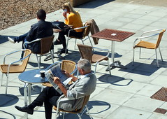 relax... (patrick l clinton) Tags: relax read phone enjoy sun rest beach brighton