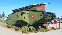 Wooden replica tank (sirgunho) Tags: preserved minsk belarus loshany stalin line museum линия сталина wooden replica tank soviet union army air force red forces world war two lenin communism nato gun armoured vehicle car missile diggers enginering