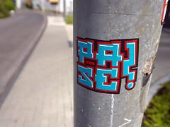 Sticker in Köln/Cologne 2015 (kami68k [a week of tags]) Tags: köln cologne 2015 graffiti illegal bombing sticker streetart street art pase
