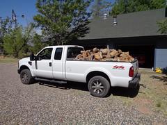 Load #2 (twm1340) Tags: firewood alligator juniper 2008 ford f250 4x4 superduty turbo diesel supercab juniperus deppeana checkerbark wood cut