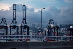Hong Kong Docks at Dusk #1 (cdawson77) Tags: hongkong docks cargo cityscape landscape dusk chris dawson olympus microfourthirds mft m43 panasonic 25mmf17 lumixg25f17 pen epl3