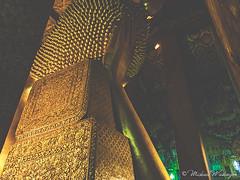 Entry Into Nirvana (Sound Quality) Tags: wwwmichaelwashingtonaecom bangkok thailand asia culture travel viaje tailandia art canon50d temple wat hall reclining buddha recliningbuddha pho watpho golden locks goldenlocks nirvana buddhism spikes rest unesco philosophy