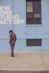 SABADO - VIOLETA URTIZBEREA (Celeste Martearena) Tags: violeta urtizberea sabado celeste martearena bushwick nyc new york brooklyn fashion campaign lookbook walking lightblue actress female streetphotography