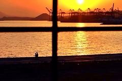 Sunset over the port (streetsh0t) Tags: sunset piraeus urban greece