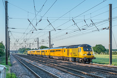 Late Evening NMT (Richard Croft136) Tags: copmanthorpe york nmt new measurement train hst railway railroad rail evening sunset class 43 network crossing foot ecml east coast mainline engineering test