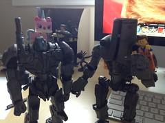 Jaegers Playing With LEGOs (splinky9000) Tags: kingston ontario neca pacific rim toys jaeger cherno alpha coyote tango lego movie minifigures emmett unikitty action figure