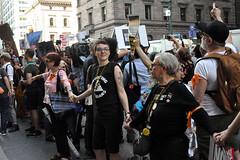 line (greenelent) Tags: notrump protest demonstration riseandresist streets people activists nyc newyork